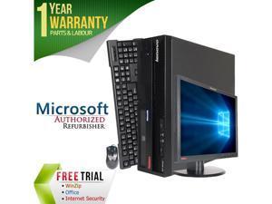 "Lenovo Desktop Computer M57 + 17"" LCD Core 2 Duo E6550 (2.33 GHz) 4 GB DDR2 160 GB HDD Windows 7 Professional 64-Bit"