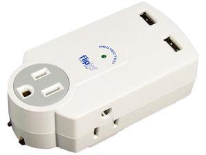 Ideative PP0321W 612 Joules Flipit! Travel Surge Protector, 3 AC + 2 USB