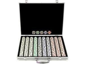 Generic 1000 11.5g 4 Aces Poker Chip Set w/Aluminum Case