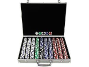 Generic 1000 11.5g Hold'em Poker Chip Set with Aluminum Case