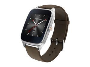 ASUS ZenWatch2 Android Wear Smartwatch with Quick Charge & Silver Case, Brown Rubber Band (WI501Q-SR-BW-Q)