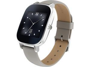 ASUS ZenWatch 2 Android Wear Smartwatch with Quick Charge & Silver Case, Beige Leather Band (WI502Q-SL-BD-Q)