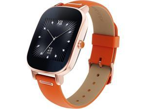 ASUS ZenWatch 2 Android Wear Smartwatch with Quick Charge & Rose Gold Case, Orange Leather Band (WI502Q-RL-OG-Q)