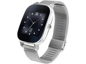 ASUS ZenWatch 2 Android Wear Smartwatch with Quick Charge & Silver Case, Silver Metal Band (WI502Q-SM-SR-Q)