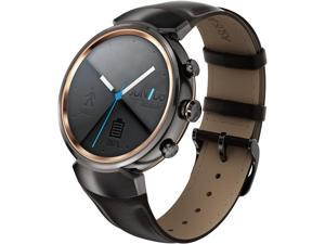 ASUS ZenWatch 3 Android Wear Smartwatch with Quick Charge & Gunmetal Case, Dark Brown Leather Strap (WI503Q-GL-DB)
