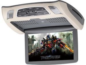 "SAVV LOH-U1010DVD 10.1"" Wide Digital 1024 X 600  Overhead Monitor with DVD, Black Beige Gray"