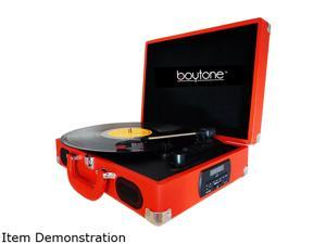 Boytone BT-101TBRD Mobile Suitcase Turntable, Red