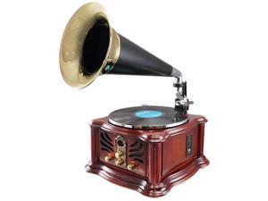 Pyle PUNP33BT Vintage Retro Classic Style Bluetooth Turntable Phonograph Speaker System with MP3 Recording Ability