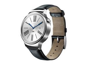 Huawei Smart Watch Stainless Steel with Black Suture Leather Strap (U.S Warranty) Model 55020533