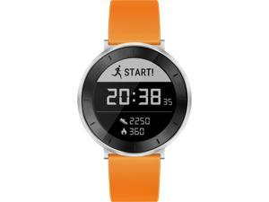 Huawei Fit Smart Fitness Watch (Moonlight Silver with Orange Sport Band, Small) with Continuous Heart Rate Monitor (US Warranty)