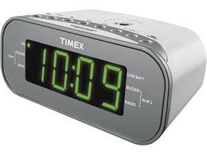 TIMEX DualAlarm Clock Radio White T231WY2