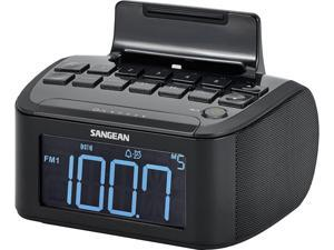 Sangean AM/FM Stereo/Aux-In Digital Tuning Clock Radio with Lighting Connector Dock RCR-28