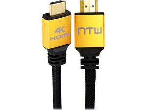 NTW NHDMI2P-012P 12 ft. Black Ultra HD PURE PRO 4K High Speed HDMI Cable with Ethernet M-M