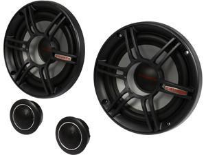 "Crunch CS65C 300W 6.5"" 2-Way CS Series Shallow Mount Component Car Speaker System"