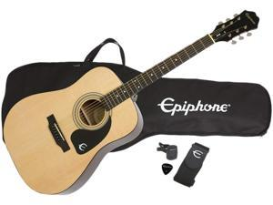 Epiphone DR-100PK NA Acoustic Guitar Package, Natural