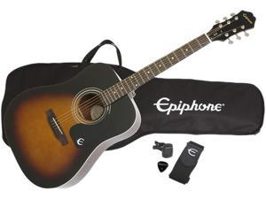 Epiphone DR-100PK VS Acoustic Guitar Package, Vintage Sunburst