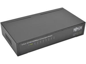 Tripp Lite 8-Port Gigabit Ethernet Switch, Desktop, Unmanaged Network Switch 10/100/1000 Mbps, RJ45, Metal (NG8)