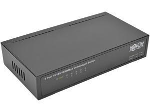 Tripp Lite NG5 5-Port 10/100/1000 Mbps Desktop Gigabit Ethernet Unmanaged Switch, Metal Housing