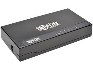 Tripp Lite NG5P 5-Port 10/100/1000 Mbps Desktop Gigabit Ethernet Unmanaged Switch, Plastic Housing