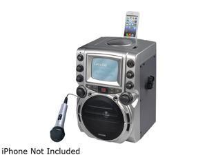 "Karaoke Usa GQ752 Portable CD+G Karaoke System with 5.5"" B/W Monitor"