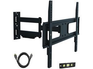 "ProHT by Inland 05412 37"" - 70"" Full Motion TV Wall-Mount Bracket Designed to fit flat-panel plasma and LED, LCD TV, up to VESA 600x400mm, max load 110 lbs., with 6 ft. HDMI Cable and Bubble level"