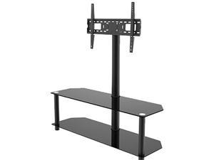 "INLAND 5449 32"" - 60"" Black TV Stand with Mount fits TVs up to 60in"