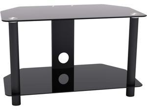 INLAND 5448 Black 2 Shelf TV Stand up to 32""