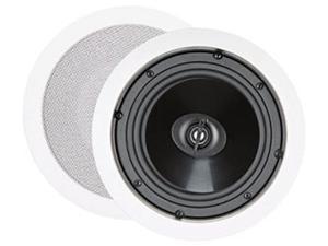 """Steren Essentials Series 730-101 2 CH 6 1/2"""" Two-Way In-Ceiling Speakers (Pr) Pair"""