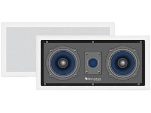 "Steren Premier Series 730-205 Dual 5 1/4"" Home Theater Two-Way Left/Center/Right In-Wall Speaker With Pivoting Dome Tweeter (Ea)"