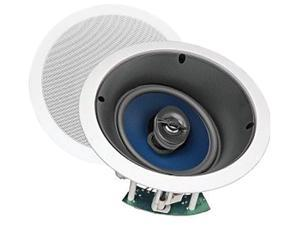 "Steren Premier Series 730-206 2 CH 6 1/2"" Home Theater Two-Way Left/Center/Right In-Ceiling Speaker With Pivoting Tweeter (Ea) Single"