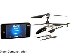 Silverlit 84632 White Apple Bluetooth Heli HS