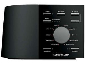 SOUND+SLEEP White Noise Sleep Machine, Black