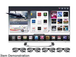 "LG 47"" Cinema 3D 1080p 120Hz TruMotion LED TV with Smart TV and Six Pairs of 3D Glasses – 47LM6700"