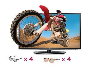 "LG 42"" LED 1080P 120hz Cinema3D HDTV / 2 sets of Dual Play Gaming Glasses"