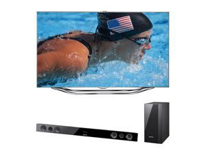 "Samsung 46"" 1080p 120Hz LED Smart TV with Soundbar Bundle UN46ES8000/HWE450"