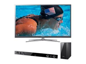 "Samsung 64"" 1080p 600Hz Plasma HDTV with Soundbar Bundle PN64E8000/HWE450"