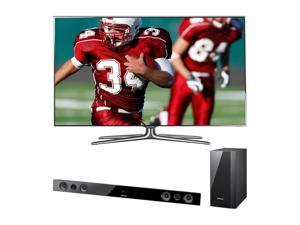 """Samsung 60"""" 1080p LED Smart TV and Soundbar Bundle UN60ES7100/HWE450"""