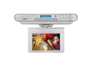 """COBY KTFDVD7093 7"""" LCD TV With Built-In Under-the-Cabinet DVD Player"""
