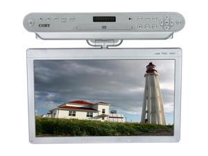 """COBY KTFDVD1560 15.6"""" Silver Under-The-Cabinet LCD TV With Built-In DVD Player"""
