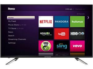 "Hitachi LE50A6R9 50"" Class 1080p LED HDTV with Roku Streaming Stick"