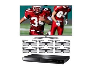 "Samsung 46"" Class (45.9"" Diag.) 1080p 240Hz LED HDTV bundled with Blu-ray Player and 6 Pairs of Glasses UN46ES7500/BD-E5900G"