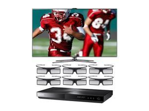 "Samsung 60"" 1080p 240Hz 3D Slim LED Smart TV bundled with Blu-ray Player and 6 Pairs of Glasses UN60ES7500/BD-E5900G"