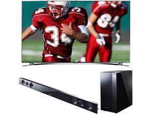 """Samsung 55"""" Class 1080p 240Hz Smart 3D LED TV with Soundbar Bundle - UN55F8000/HWF450"""