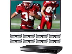 "Samsung 60"" Class Plasma HDTV Bundle with Blu-ray Disc Player -PN60F8500/BDE5900/8G"