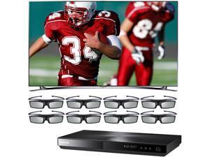 "Samsung 75"" Class LED-LCD HDTV Bundle with 3D WiFi Blu-ray Disc Playe UN75F8000/BDE5900/8G - Retail"