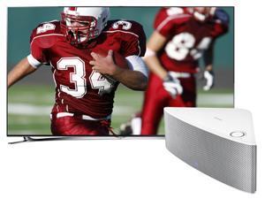 "Samsung 60"" Class 1080p 240Hz Smart 3D LED TV/Shape Wireless Speaker(White) Bundle - UN60F8000/WAM751"