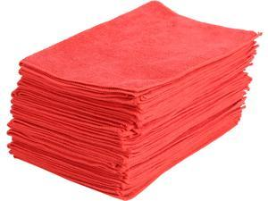 Maxkin Premium Microfiber Cleaning Cloths - Red - 30 Pack - MAXA-11