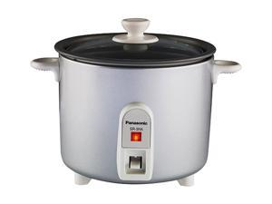 Panasonic SR-3NA Silver 1.5 Cups (Uncooked)/3 Cups (Cooked) Rice Cooker/Steamer with Tempered Glass Lid