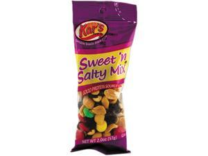 Kar's SN08387 Nuts Caddy, Sweet 'N Salty Mix, 2 oz Packets, 24 Packets/Caddy