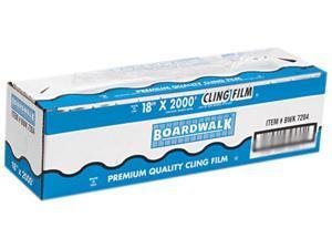 "Boardwalk 7204 PVC Food Wrap Film, 18"" x 2000-ft. Roll"